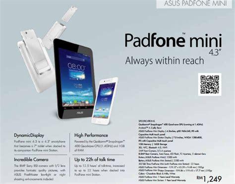Pasaran Mini 4 asus malaysia menyenaraikan padfone mini pada harga rm1249 pada katalog januari amanz