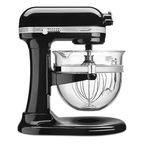 Kitchenaid 3 Speed Mixer Onyx Black Kitchenaid Ksm6521xob 10 Speed Stand Mixer W 6 Qt Glass