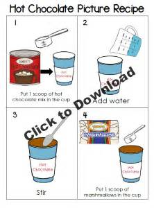 Hot chocolate winter play ideas