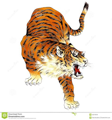 japanese tiger stock illustration illustration of fear