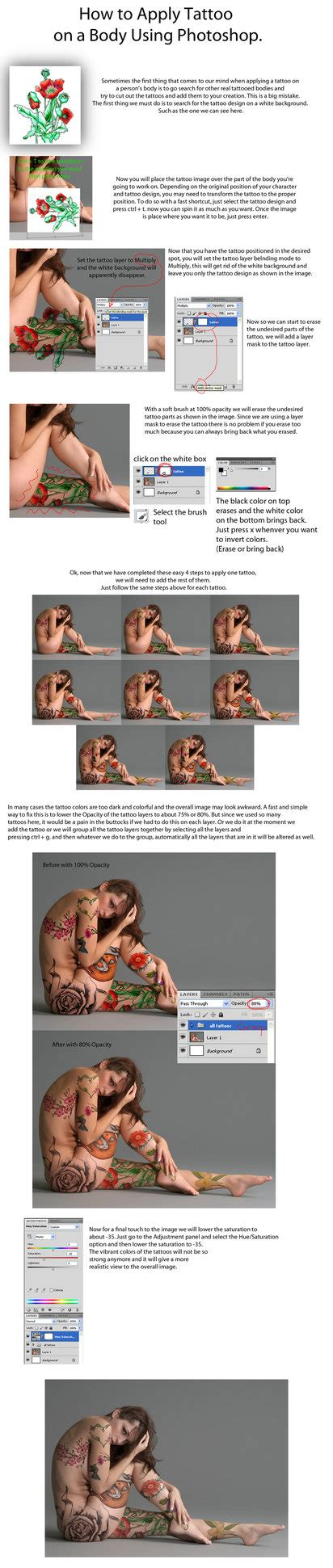 tutorial photoshop deviantart apply tattoo with photoshop tutorial by pshoudini on
