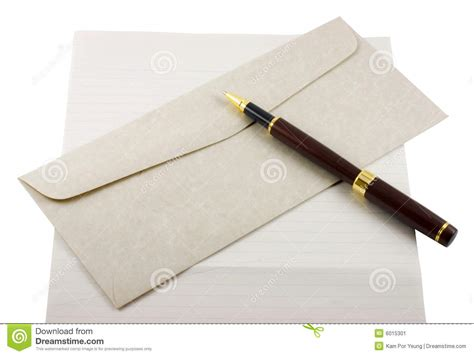 Letter Image letter paper envelope and pen stock image image 6015301