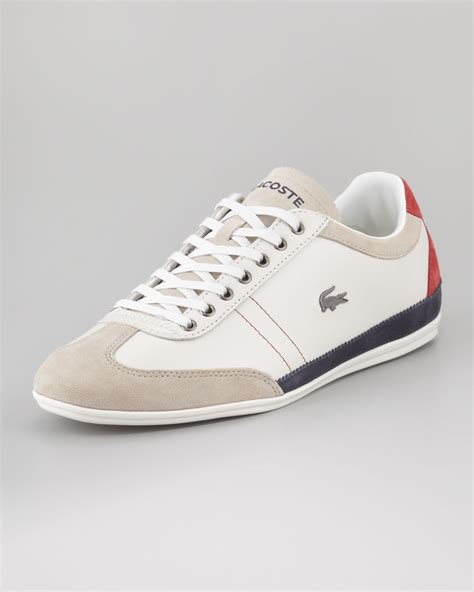 lacoste sneakers lyst lacoste misano tricolor leather sneaker in
