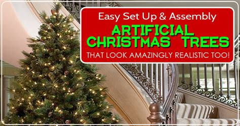 setting up christmas tree easy to set up and assemble artificial trees that look amazingly realistic