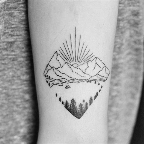 25 best ideas about simple mountain tattoo on pinterest