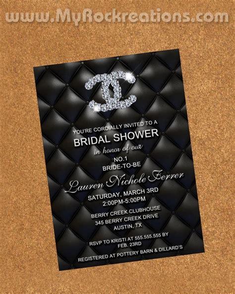 Bridal Shower Sunday Chanel 187 Project Bride D C Blog Chanel Invitation Template