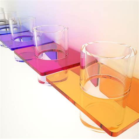 bicchieri in plexiglass porta bicchiere per dentifricio e spazzolino in plexiglass