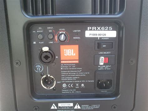 Speaker Jbl Prx 625 jbl prx625 image 662981 audiofanzine