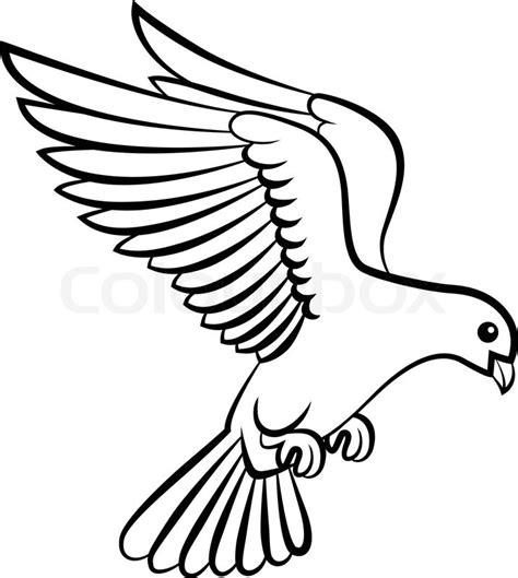 vector illustration of cartoon dove birds logo for peace