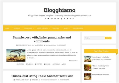blogger themes html codes blogghiamo responsive blogger template 2015 free themes
