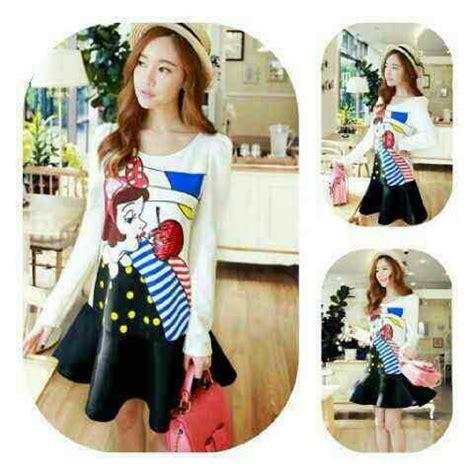 Baju Korea Murah Dress Cantik baju mini dress pendek cantik model terbaru murah ryn