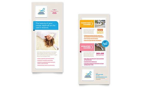 rack card templates carpet cleaning rack card template design