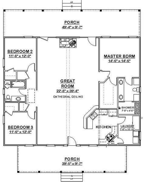 square house plans 40x40 the makayla plan has 3 bedrooms