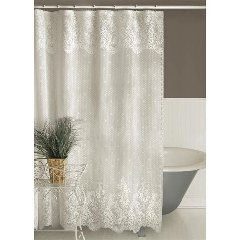 lace shower curtains sheer heritage lace floret lace shower curtain altmeyer s