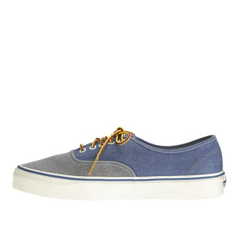 j crew s vans washed canvas authentic sneakers in two