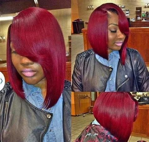 edgy bobs for african americans red asymmetrical bob hairstyles looking for styles to try