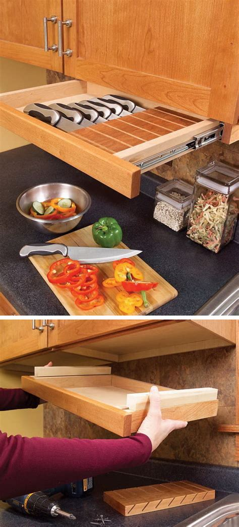 under kitchen cabinet storage ideas clever kitchen storage ideas hative