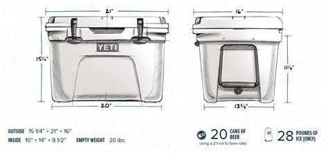dimensions of a 35 quart yeti cooler yeti tundra 35 cooler archives chuggie