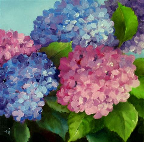 acrylic painting hydrangea nel s everyday painting 6 23 13 6 30 13