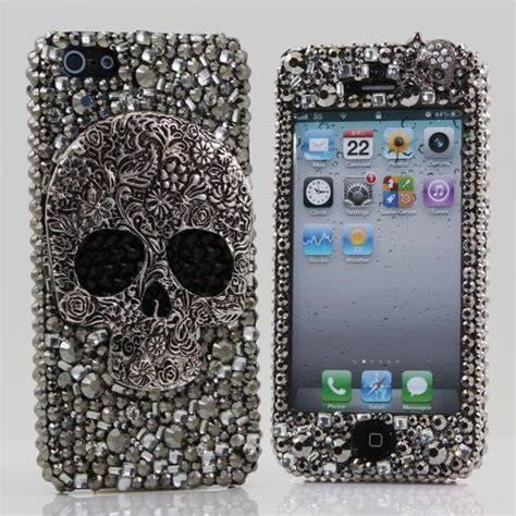 Anyland Swarovsky For Iphone 5g 3d swarovski bling cover for iphone 5 5g at t
