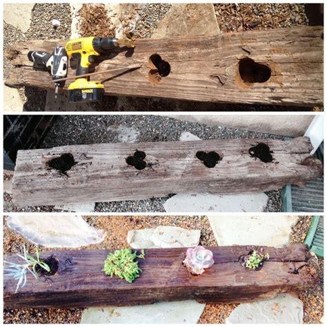 Railroad Tie Planter Box by Turn A Railroad Tie Into A Planter Back Yard