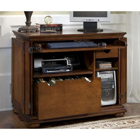 Compact Office Cabinet by Home Styles Homestead Compact Office Cabinet Warm Oak