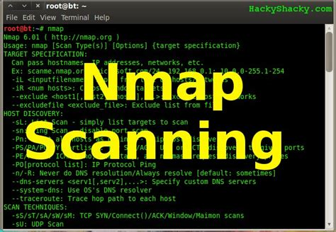 nmap tutorial scan nmap hacky shacky