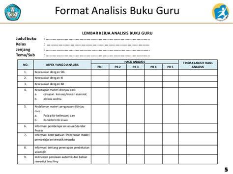 format analisis beban kerja 2 4 analisis buku guru dan siswa tematik rev