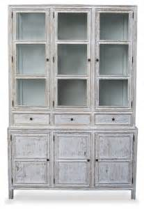 colonial hutch white wash transitional china cabinets