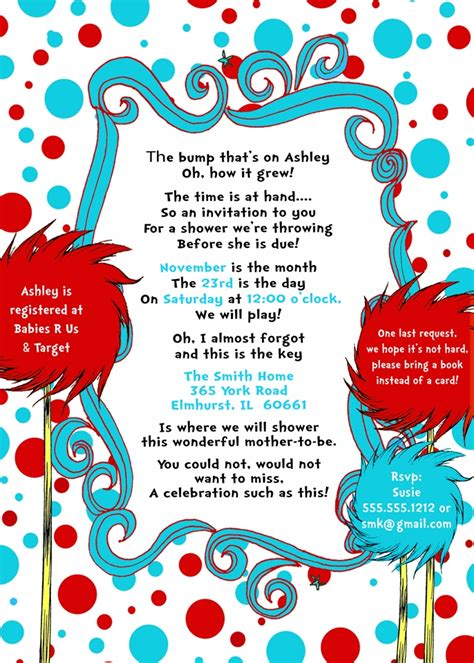 dr seuss invitation template dr seuss baby shower invitations templates ideas all