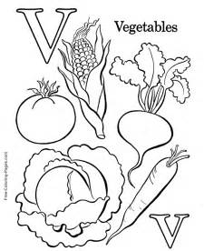 alphabet coloring pages v is for vegetables