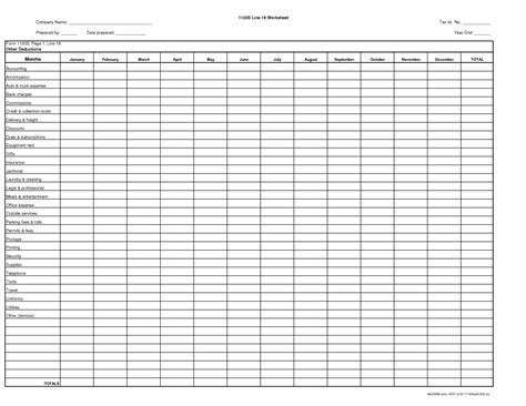 tax deduction spreadsheet template best photos of itemized expense sheet tax itemized