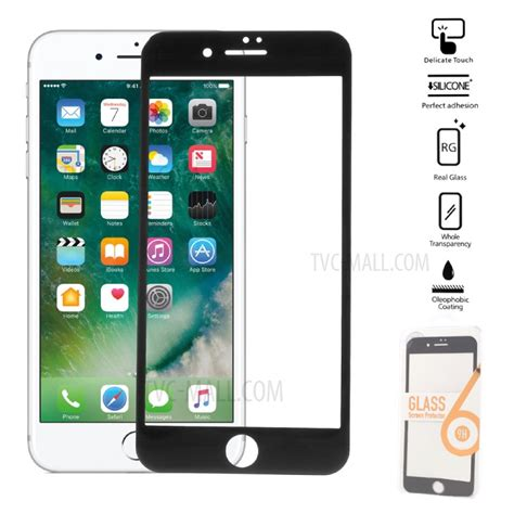 0 25mm size tempered glass screen protector for iphone 7 plus carbon fiber soft edge tvc