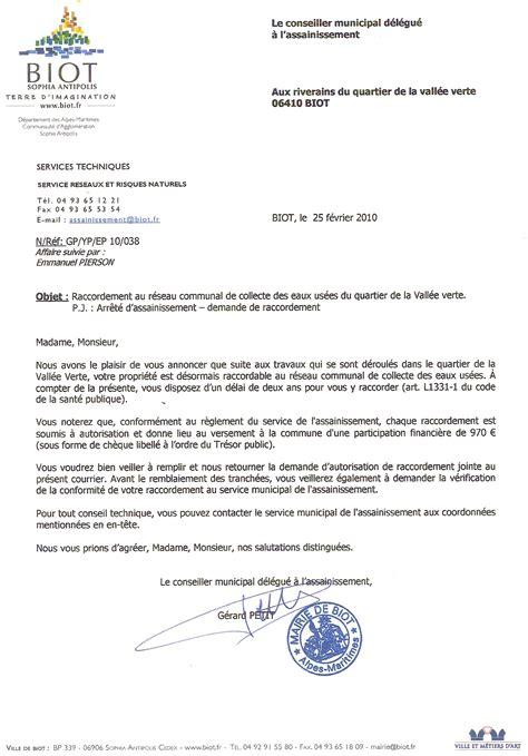 Demande De Travaux Lettre Lettre Demande Autorisation Mairie