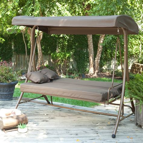outdoor swing bed patio swing bed with canopy beautiful swing chair online