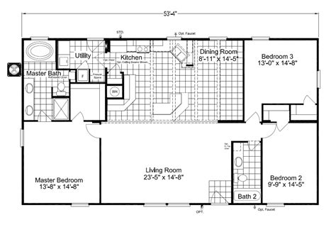home house plans the cypress sa30543c manufactured home floor plan or