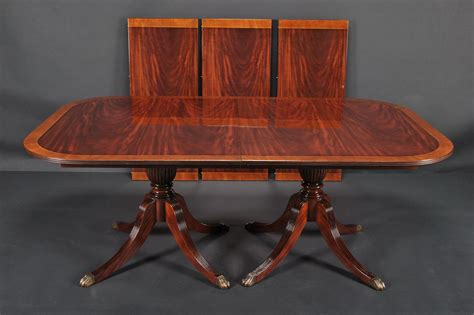 duncan phyfe dining room table duncan phyfe double pedestal mahogany dining table high