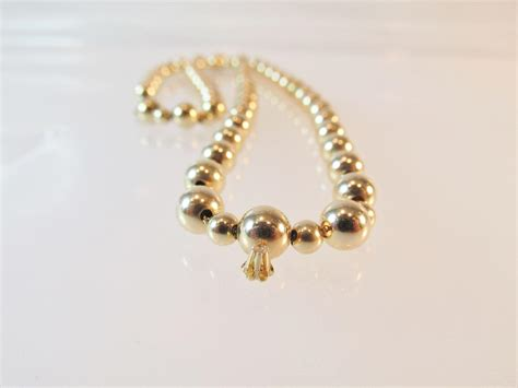 gold add a bead necklace 14kt yellow gold add a bead necklace with small