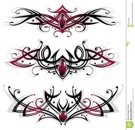 tattoos tribals gems royalty free stock photography