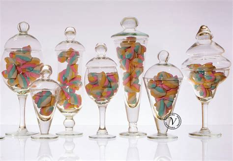 floreros con frascos de vidrio vidriolandia carameleras candy bar y floreros de vidrio