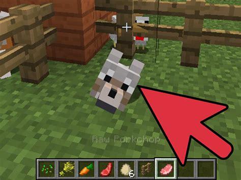tame  breed  dog  minecraft  steps