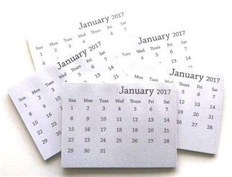 2018 Mini Calendar 2017 Mini Tear Calendar Set Of 10 Calendars
