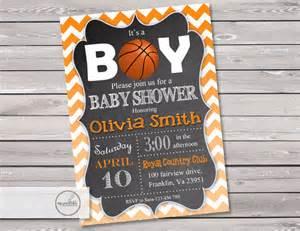 basketball baby shower invitation digital printable sports