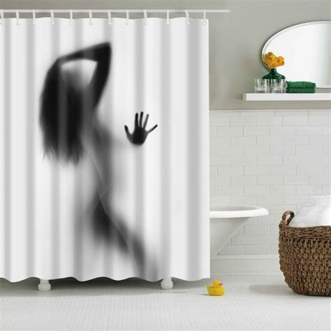 sexy curtains bathroom shower curtains sexy woman shower curtain