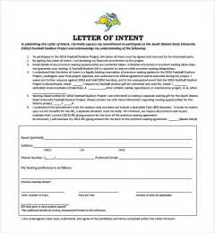 Letter Of Intent Template by Sle National Letter Of Intent 9 Free Documents In