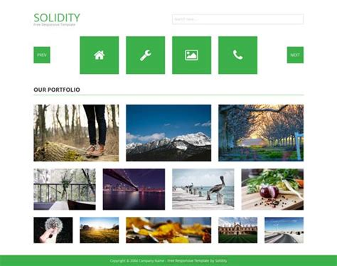 Html Photo Gallery Template Free 250 free responsive html5 css3 website templates freshdesignweb