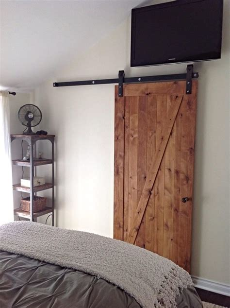 Barn Door Bedroom Z Barn Door Rustic Bedroom Salt Lake City By Rustica Hardware