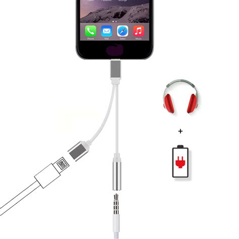 lightning to 3 5mm headphone adapter charge cable for iphone 7 6s plus ebay