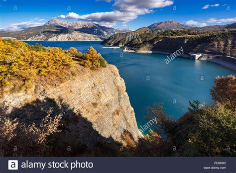 serre french france hautes alpes serre lake stock photos france