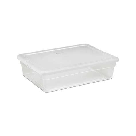 under bed tote sterilite 28 quart clear plastic underbed storage tote ebay